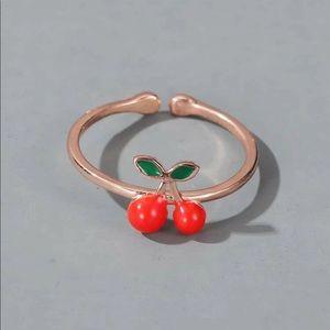 Rose Gold Cherry Ring 🍒